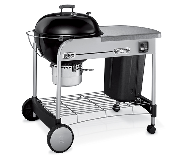 weber performer 22in charcoal barbecue with rolling cart