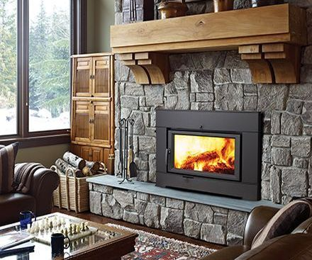 Regency CI2600 Wood Fireplace Insert with stone surround