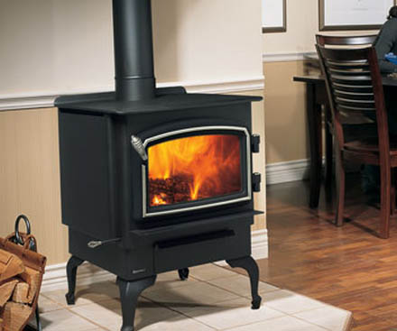 Regency F1100 Free Standing Wood Stove Fireplace black
