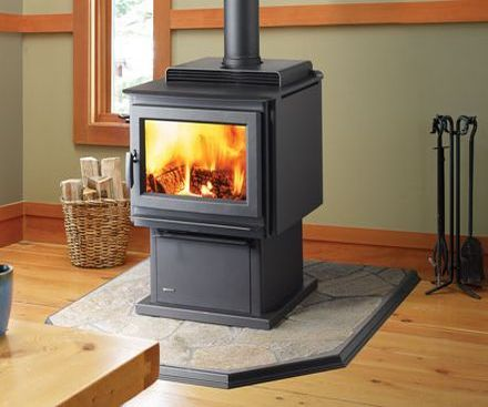 Regency F3500 Wood Stove Fireplace with pedestal