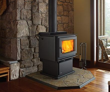 Regency F5100 Free Standing Wood Stove Fireplace with pedestal