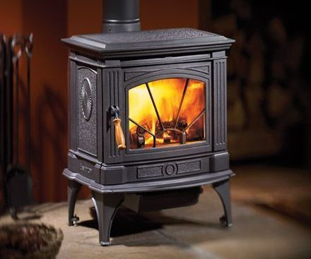 Regency H200 Hampton Cast Iron Wood Stove Fireplace black