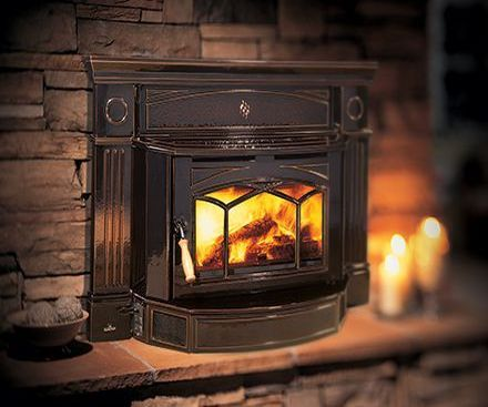 Regency HI300 Hampton Cast Iron wood fireplace Insert in brown
