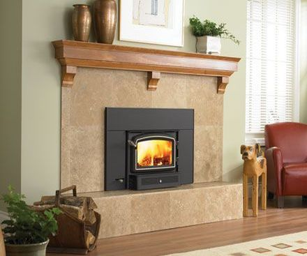 Regency I1200 Wood FIreplace Insert with stone hearth