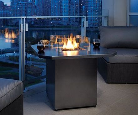 Regency PTO28CIT outdoor gas fireplace firetable
