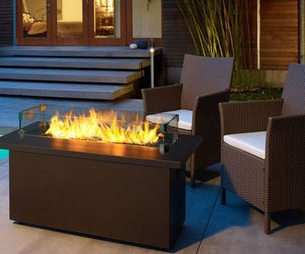 Regency PTO28CIT Outdoor gas fireplace low firetable