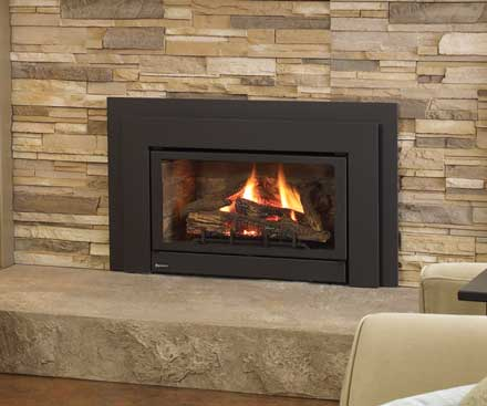Regency U32 Gas Fireplace Insert with wide viewing area