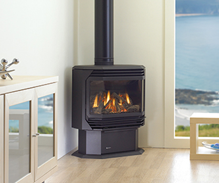 Regency U39 Large Free Standing Gas Stove Fireplace with panorama ceramic glass viewing area