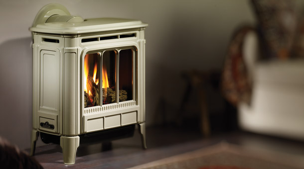 Regency H27 Hampton White Free Standing Gas Stove Fireplace