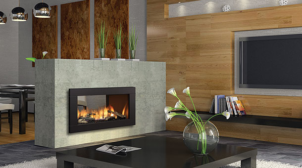 Regency HZ42STE contemporary two sided medium gas fireplace