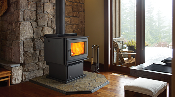 Regency F5100 Free Standing Large Stove Fireplace with pedestal