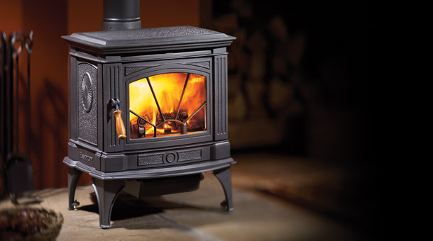 Regency H200 Hampton Cast Iron Free Standing Charcoal Wood Stove Fireplace