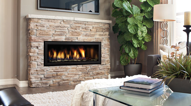 Regency HZ40E Medium Gas Contemporary Fireplace with black face plate
