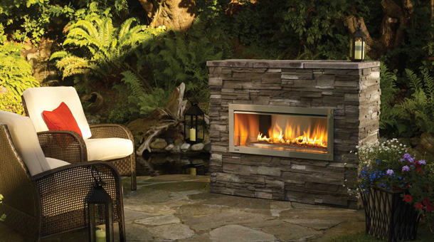 Regency HZO42 Contemporary Outdoor Gas fireplace