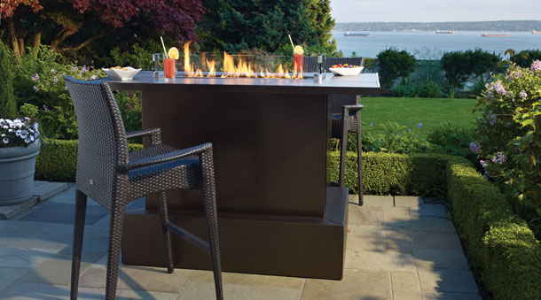 Regency PTO28CIT Contemporary Outdoor Gas fireplace firetable