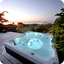 Bellevue portable hot tub massaging foot dome