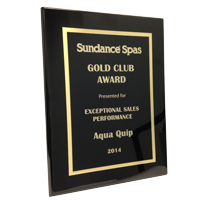 sundance spas sales award presented to Aqua Quip Tacoma